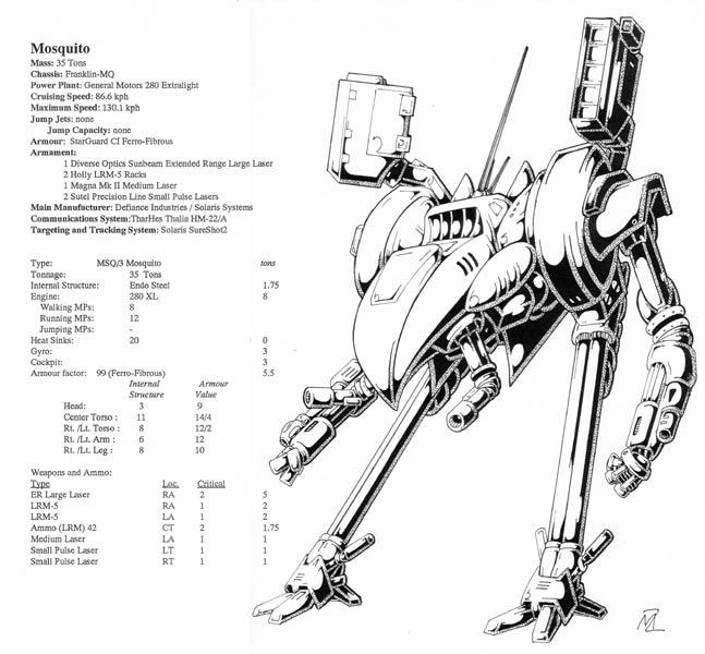 Battletech Designs Mosq